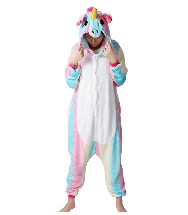 je suis une licorne pyjamas cosplay licorne corne oreilles et crini re 3d rose bleu et. Black Bedroom Furniture Sets. Home Design Ideas
