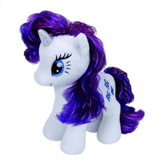 rarity peluche mon petit poney licorne 20 cm my little pony blanc violet - Poney Licorne