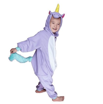 je suis un b b licorne pyjama licorne enfant avec corne oreilles et queue violet vert. Black Bedroom Furniture Sets. Home Design Ideas